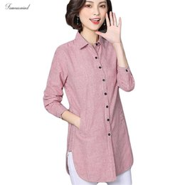 working clothes for female 2020 - Striped Women Blouse Shirts Spring Button For Lady Work Long Sleeve Tops Female Autumn Fashion Clothing Blusas Plus Size