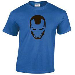 8439abfe Iron Man Shirt Blue UK - IRON MAN MENS T SHIRT TONY STARK INDUSTRIES  AVENGERS SUPERHERO