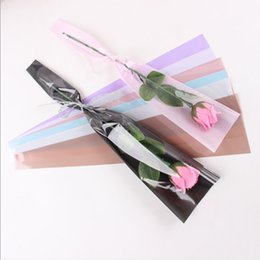 $enCountryForm.capitalKeyWord Australia - 50pcs lot Bouquet wrapping paper rose flower Florist Single flower bag handmade translucent wrapping paper Korean new style Gift wrapping