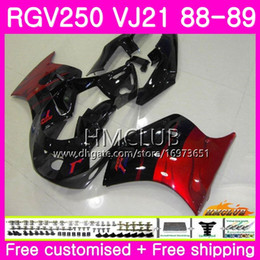 fairing 1989 Australia - Bodys For SUZUKI SAPC RGV 250 VJ21 RVG250 RGV250 88 89 90 91 92 93 17HM.21 RGV-250 VJ22 1988 1989 1990 1991 1992 1993 Fairing Hot Red flames
