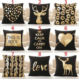 $enCountryForm.capitalKeyWord Australia - Supersoft Velvet Bronzing Pillow Cover Cushion Cover Home Decor gold stamp Pillow Decorative Throw Pillows LOVE Pillow Case