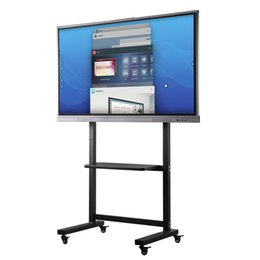 lcd screen stands Australia - 65 inches Touch Electronic White Board Interactive Presentation LCD Screen for Office with Rolling TV Stand