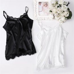 06d90d2e90 Women Camisoles and Tank Tops Black White Colors for Sleep or Suit Daily  Used Causal Lace Tank Top