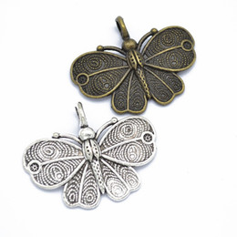 $enCountryForm.capitalKeyWord Australia - Bulk 100pcs lot large size butterfly charms pendant, Metal butterfly charms 32*41mm Good For Jewelry making