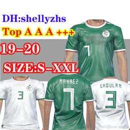 6d6f8588a Algeria Thailand home white 2020 Soccer Jersey Adult football shirt Algeria  away green soccer shirt 19 20 MAHREZ Football Athletics uniforms
