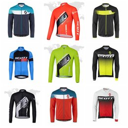 $enCountryForm.capitalKeyWord Australia - SCOTT team bike Racing Cycling Jersey Bicycle Sports Clothes long sleeve tops Ropa Ciclismo MTB Bike clothes Mens Cycling Clothing Q62020