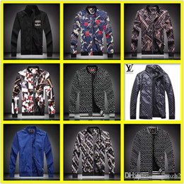 mens casual jackets for spring Canada - 21FW MENS BRAND JACKETs Clothes Colorblock JACKET for Man Casual Zipper WINDBREAKER Famaous Football HOODIES Spring LISY