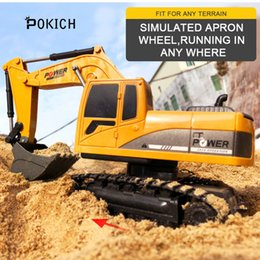 $enCountryForm.capitalKeyWord Australia - Pokich RC Excavator Remote Control truck toy Auto Lift Engineering Car Dumper Tilting Cart Tip Lorry Tractor Crawler Digger Toy
