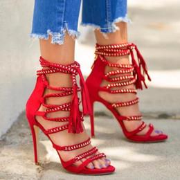 e41e80d008535c 2019 Multi Color Sandal Boots Summer Sexy Women Sandalias Lace Up Open Toe  Rope Chains Shoes Ankle Strap Gladiator Sandals Women