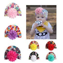$enCountryForm.capitalKeyWord Australia - 2019 new baby floral cotton hat infant ear cover hair bands hollowed out head Indian kids hat children broken flower headwear
