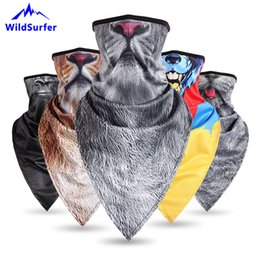 White face toWels online shopping - WildSurfer Plus Triangular Hiking Scarves Riding Breathable Towel Cycling Animal Half Face Mask Fishing Bandana Ciclismo FJ36