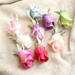 Wholesale Fake Flowers Shipped Free Australia - 50pcs High Quality Rose Artifical Flowers Home Decoration Silk Flowers Head for Wedding Party Decorative Fake Wreaths Free Shipping H82