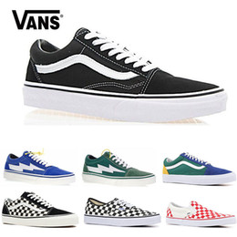 4dd9510d1b Original Vans old skool sk8 hi mens womens canvas sneakers black white pink  YACHT CLUB Strawberry fashion skate casual shoes size 36-44