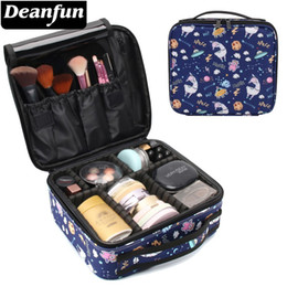 zipper train case Australia - Deanfun Makeup Case Galaxy Llama Waterproof Organizer Bag Alpaca Travel Organizer Cosmetic Train Cases Dropshipping 16007