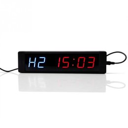 $enCountryForm.capitalKeyWord UK - Programmable Training Timer Led Display Interval Timer Wall Clock With Remote For Gym Fitness Training T190620