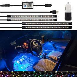 $enCountryForm.capitalKeyWord Australia - LED Strip RGB Remote Control Car Decorative Atmosphere Lamp For Toyota Corolla Avensis Yaris Rav4 Auris Hilux Prius Camry Celica