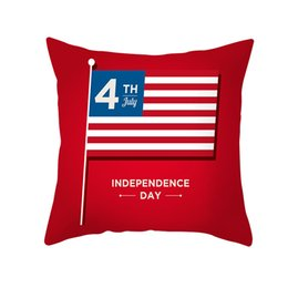 $enCountryForm.capitalKeyWord UK - Celebration 4th of July Independence Day festival Pillow case America USA Flag Sofa Striped Printed Pillowslip Cushion Cover wholesale