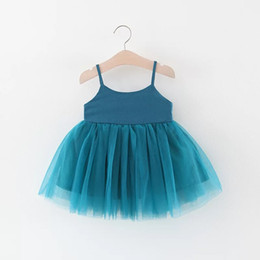 SuSpenderS for girlS 4t online shopping - Pageant Dresses For Girls Clothes Summer Slip Dress Princess Dress Knit Cotton Mesh Lace Skirt Kids Baby Infant Girls Dress Solid Color