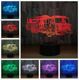 $enCountryForm.capitalKeyWord Australia - 3D Fire Engine Modelling Table Lamp 7 Colors Changing Fire Truck Car RGB Sleep Night Light Fixture Bedroom Decor Kids Baby Kids Toys Gifts