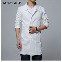6xl trench coat men Australia - 2019 Spring Jackets Mens Classic Trench Coat Slim Fit Coats Men Business Casual Outwear Men's Long Sleeved Windbreakers M-6XL