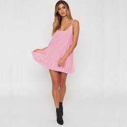 d7ea5df5a3d Summer Women Sleeveless Loose Dress Evening Party Beach Casual Backless  Short Mini Dress Fahion Women Clothes Sundress