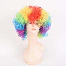 Human Hair Wig Beautiful NZ - Brazilian Body WaveSynthetic Braiding Beautiful Star Hair Human Hair Wigs cosplay Children's Halloween wig Mixed colour Golden