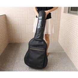 Black Guitar Case NZ - Fashion Portable 38-41 Inch Acoustic Classical Guitar Bag Double Straps Padded Thicken Soft Case Guitars Backpack Fa$1