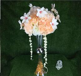 $enCountryForm.capitalKeyWord Australia - Home Decor Ornaments Accessories Handmade Transparent crystal flower vase wedding Centerpieces table vase for event party decor