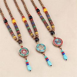 $enCountryForm.capitalKeyWord NZ - Antique Ethnic Handmade Nepal 6mm Wenge Wood Beads Necklace Pendant Women Coral Cute Wedding Luxury Flawless