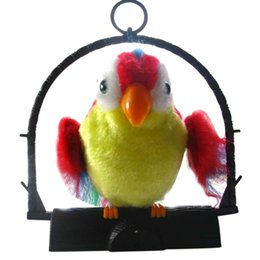 $enCountryForm.capitalKeyWord Australia - Waving Wings Talking Talk Parrot Imitates & Repeats What You Say Gift Funny Toy Toys for children NO BATTERY