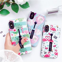 $enCountryForm.capitalKeyWord NZ - ZZYD Combo TPU + PC Hybrid Ring Grip Kickstand Holder flamingo Design Girlish Cell Phone Cases Covers For Iphone X XS XR XS MAX