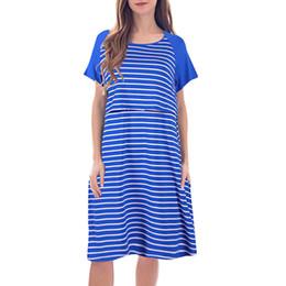 $enCountryForm.capitalKeyWord Australia - ISHOWTIENDA Women Maternity Dresses Nursing Casual Stripe Print Patchwork Floral Dress zwangerschaps kleding Hamile Elbise