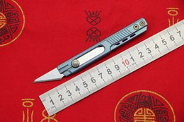 Titanium Cutter NZ - LOVOCOO Original Paper cutter Cuttin knife Titanium Handle Olfa stainless steel blade Pruning outdoor camping knives daily tools