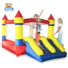 inflatable jumping castles NZ - YARD Puncture Proof Party Nylon Residential Inflatable Bouncer Jump Bounce House Jumper Bouncy Castle Slide Combo With Blower