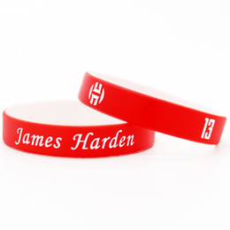 $enCountryForm.capitalKeyWord Australia - High quality silicone sports wristband rubber power bangle super star signature bracelet as harden fans gift