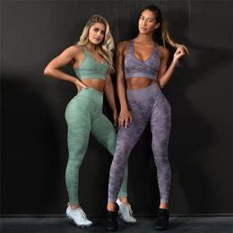 $enCountryForm.capitalKeyWord Australia - NORMOV Camouflage Seamless Leggings High Waist Workout Yoga Pants women Push Up Sport Fitness Legging Gym Women Yoga leggings