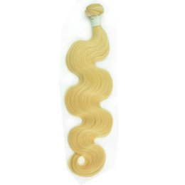 $enCountryForm.capitalKeyWord Australia - High Quality Virgin Peruvian Human Hair Bundle 12-30inch Shedding Free Tangle Natural Straight 613 Blond Remy Hair Weave Body Wave for Women