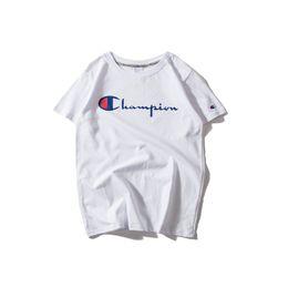 $enCountryForm.capitalKeyWord UK - DN730 New Fashion Champs print LOGO short T-shirt Couples Lovers pure cotton Short Sleeve Men women Hip Hop Street Style Tees Sh