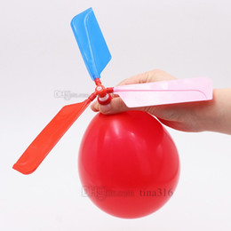 $enCountryForm.capitalKeyWord NZ - Flying balloon helicopter DIY balloon airplane toy children's toy combination balloon children's puzzle toy Party Favor T2G5015