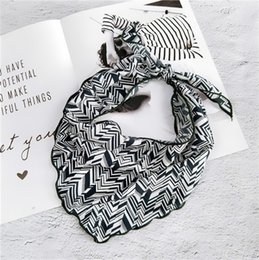 Small triangle Scarf online shopping - New Popular Triangle Small Scarf Female Spring and Summer Fashion Decoration Parent child Personality Scarf