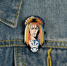 Wholesale buttons hair jewelry for sale - Group buy Man With Colorful Hair Brooch Pins Denim Clothes Bag Buckle Button Badge Cold Jewelry Gift For Friends Kids zdl0214