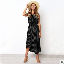 long sleeve maxi dresses Australia - 2019 latest design women's dress summer fashion wave retro crew-neck sleeveless maxi dresses ladies casual clothes long skirts streetwear