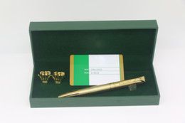 $enCountryForm.capitalKeyWord Australia - High quality RX brand Ballpoint pen Metal pure Gold color carve body stationary supplies for best gifts
