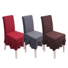 $enCountryForm.capitalKeyWord UK - Waterproof Plaid Polar Fleece Pineapple Pattern Chair Cover Elastic Plain Ruffled Edge Dining Table Restaurant Chair Stool Cover