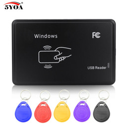 $enCountryForm.capitalKeyWord Australia - RFID Copier 125KHz EM4100 Cloner Writer Duplicator Programmer Reader + 5 Pcs EM4305 T5577 Rewritable ID Keyfobs Tags Card