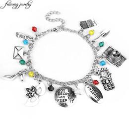 "$enCountryForm.capitalKeyWord NZ - Pretty Little Liars Charm Bracelet ""GOT A SECRET CAN YOU KEEP IT -A"" Mask Crystal Beads Bracelet Best Friends Christmas Gifts"