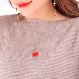 Sweet Cute Gifts Australia - 2019 Summer New Style Sweet Cute Girl Ins Style 3 Colors Heart Pendant Necklace Gift Party N5226