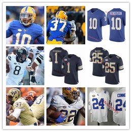 352f33647 Mens Custom Pittsburgh Panthers Football Jersey James Conner Max Browne Larry  Fitzgerald Quadree Henderson LeSean McCoy Pitt Panthers Jersey