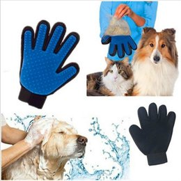 grooming apparel NZ - Silicone Pet Grooming Glove For Dogs Brush Pet Deshedding Brush Glove For Animal Dog Pet Hair GloveS For Cat Dog Grooming 1PCS Dog Apparel