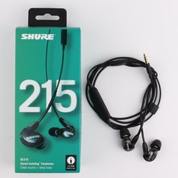 Hi Stereo Australia - High Quality SE215 Earphons Hi-fi stereo Noise Canceling 3.5MM SE 215 In ear DetchableEarphones Wired with Box Special Version